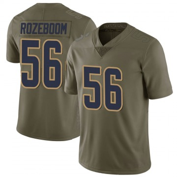 Men's Christian Rozeboom Los Angeles Rams Limited Green 2017 Salute to Service Jersey