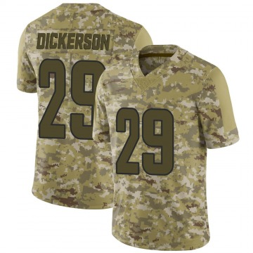 Men's Eric Dickerson Los Angeles Rams Limited Camo 2018 Salute to Service Jersey