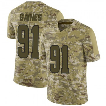 Men's Greg Gaines Los Angeles Rams Limited Camo 2018 Salute to Service Jersey