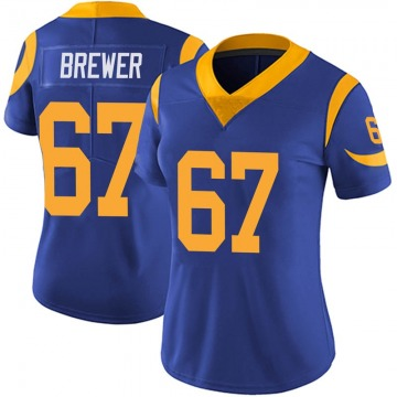 Women's Chandler Brewer Los Angeles Rams Limited Royal Alternate Vapor Untouchable Jersey