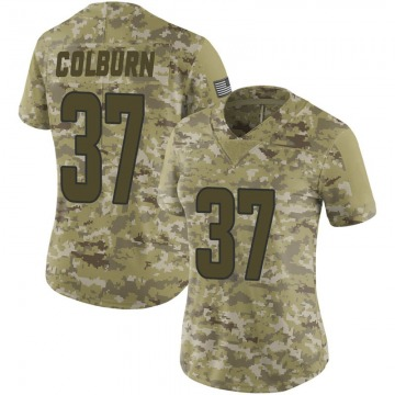 Women's Matt Colburn Los Angeles Rams Limited Camo 2018 Salute to Service Jersey