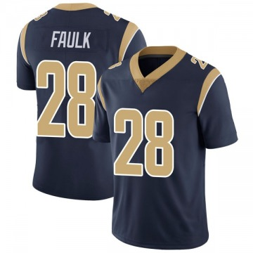 Youth Marshall Faulk Los Angeles Rams Limited Navy Team Color Vapor Untouchable Jersey