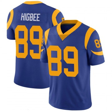 Youth Tyler Higbee Los Angeles Rams Limited Royal 100th Vapor Jersey